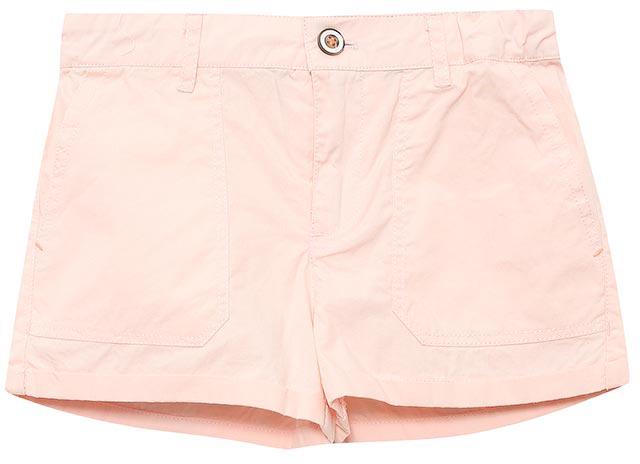 Шорты для девочки Sela, цвет: розовый. SH-515/163-7234. Размер 104, 4 годаSH-515/163-7234Стильные короткие шорты для девочки Sela, изготовленные из натурального хлопка, станут отличным дополнением гардероба юной модницы. Шорты прямого кроя и стандартной посадки на талии застегиваются на застежку-молнию и пуговицу. На поясе имеются шлевки для ремня. Спереди и сзади модель дополнена двумя накладными карманами.