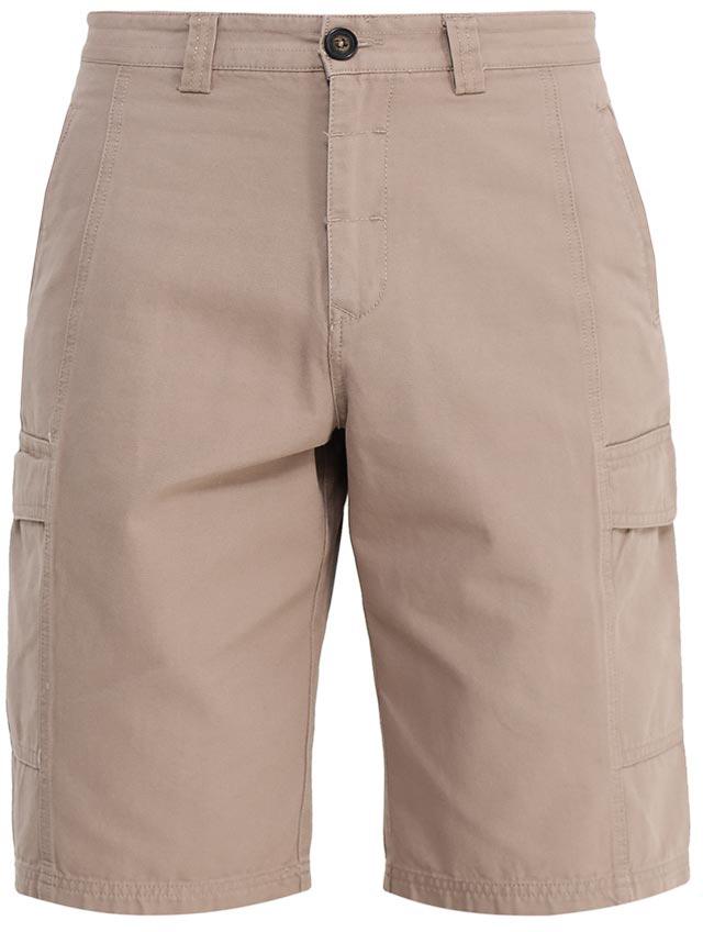 Шорты мужские Sela, цвет: светло-коричневый. SH-215/529-7224. Размер 50SH-215/529-7224Стильные мужские шорты Sela, изготовленные из натурального хлопка, станут отличным дополнением гардероба в летний период. Шорты прямого кроя и стандартной посадки на талии застегиваются на застежку-молнию и пуговицу. На поясе имеются шлевки для ремня. Модель дополнена двумя втачными карманами спереди, двумя накладными карманами с клапанами по бокам и двумя прорезными карманами на пуговицах сзади.