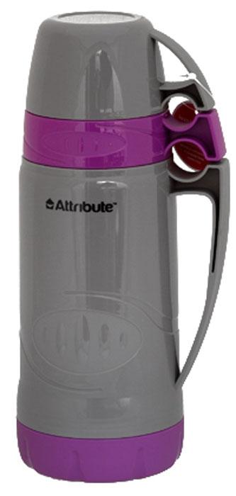 Термос Attribute Family, с 2 чашками, цвет в ассортименте, 1 л