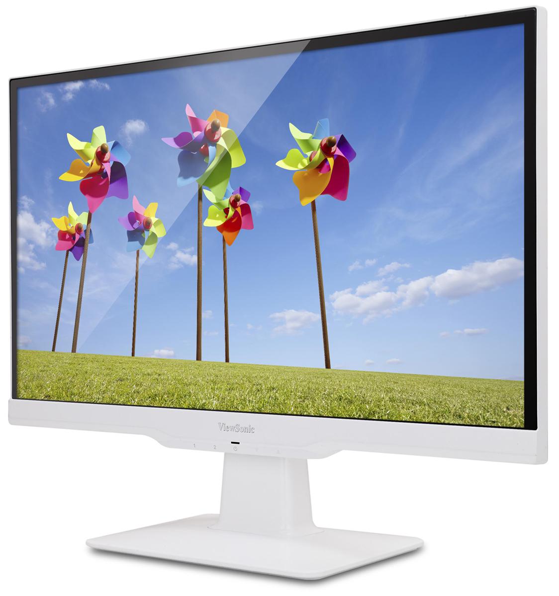 ViewSonic VX2263SMHL, White мониторVS1570122-дюймовый мультимедийный монитор ViewSonic VX2263Smhl Full HD с портами HDMI и MHL/HDMI для подключения различных устройств высокой четкости и мобильных устройств. Технология SuperClear IPS, широкие углы обзора 178 градусов и покрытие 95% цветового пространства sRGB обеспечивают превосходный уровень цветопередачи. Благодаря технологии ClearMotiv со сверхкоротким временем отклика 2 мс (GtG), технологии ViewMode и двум динамикам любители кино и ценители компьютерных игр получат отличное качество звука и изображения. Технологии для защиты глаз Flicker-Free и Blue Light Filter, режим ECO, элегантный ободок без рамки, белое глянцевое покрытие корпуса и крепления, соответствующие стандартам VESA, делают монитор VX2263Smhl превосходным устройством для любого дома или офиса. Технология улучшения изображения SuperClear обеспечивает превосходную цветопередачу и расширяет углы обзора до 178° по горизонтали и по вертикали. Глядя на экран сверху, снизу, прямо или сбоку, вы можете наслаждаться точными, живыми цветами и устойчивыми уровнями яркости — никакого искажения цвета или снижения уровня яркости.Эксклюзивная технология обработки изображения ViewSonic ClearMotiv II обеспечивает сверхкороткое время отклика жидкокристаллического экрана в 2 мс, создавая плавное изображение без рывков, размытия и фантомных эффектов. Это сверхбыстрое время отклика идеально для игр с интенсивным использованием графической подсистемы, а также хорошо подойдет для просмотра спортивных передач или боевиков.Благодаря интегрированной поддержке MHL пользователи монитора VX2263Smhl могут подключать совместимые мобильные устройства, например смартфоны и планшеты, прямо к монитору. Благодаря этому можно просматривать цифровой контент с мобильных устройств в превосходном разрешении Full HD на большом экране монитора VX2263Smhl и одновременно заряжать аккумулятор мобильного устройства.HDMI — это самый современный видеостандарт с расчетом на будущее, который обеспечи