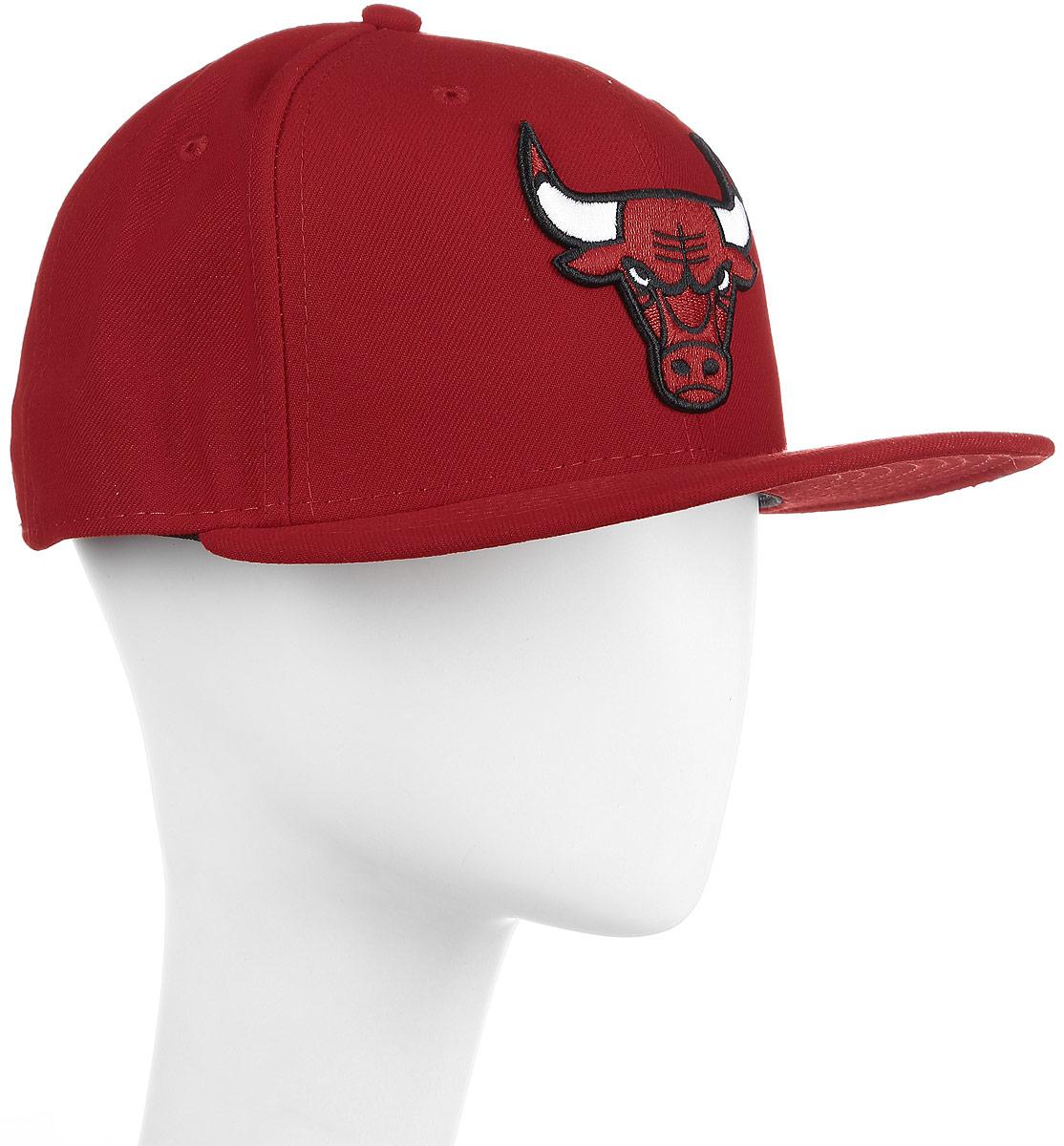 Бейсболка New Era Nba Team Chiсago Bulls, цвет: красный. 11379791-RED. Размер 7 1/4 (57) бейсболки adidas кепка nba sbc bulls s