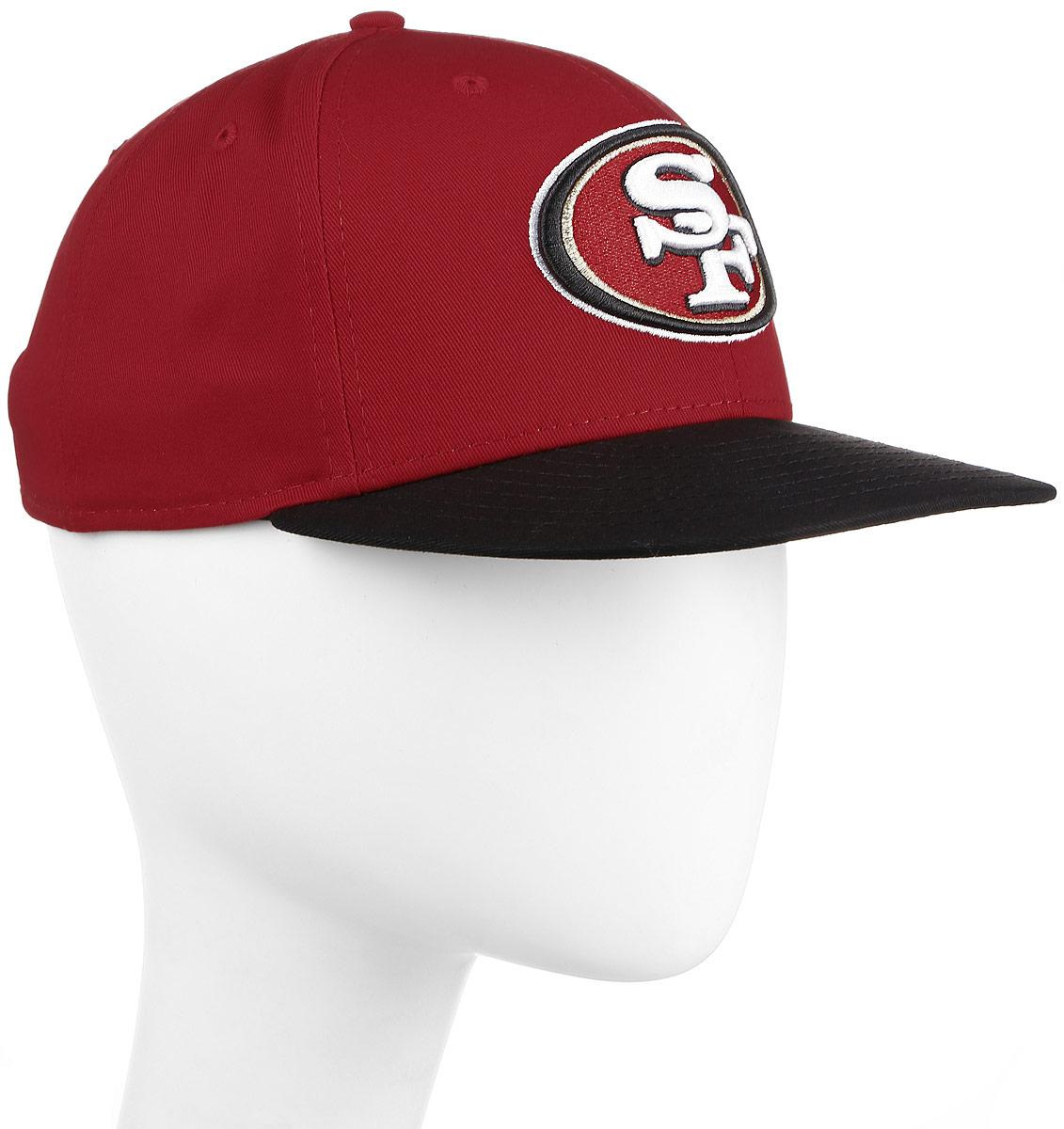 Бейсболка New Era NFL SAN FRANCISCO 49ers, цвет: красный. 11379776-RED. Размер M/L (57/60)11379776-REDСтильная бейсболка New Era, выполненная из высококачественного материала, идеально подойдет для прогулок, занятий спортом и отдыха.Изделие оформлено объемным вышитым логотипом американской футбольной команды SAN FRANCISCO. Бейсболка надежно защитит вас от солнца и ветра. Эта модель станет отличным аксессуаром и дополнит ваш повседневный образ.
