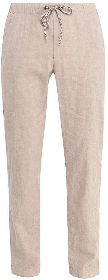 Брюки мужские Sela, цвет: светло-коричневый. P-215/536-7213. Размер 46P-215/536-7213Стильные мужские брюки Sela, изготовленные изо льна с добавлением хлопка, станут отличным дополнением гардероба. Брюки полуприлегающего кроя и стандартной посадки на талии имеют широкий пояс на мягкой резинке, дополнительно регулируемый шнурком. Модель дополнена двумя втачными карманами спереди и двумя прорезными карманами сзади.