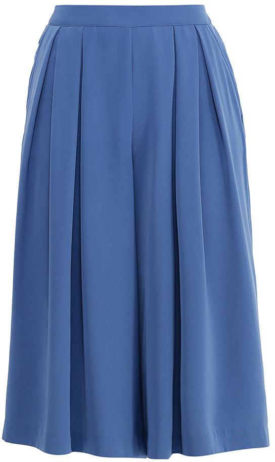 Брюки-юбка женские Sela, цвет: индиго. P-115/817-7223. Размер 44P-115/817-7223Стильные брюки-юбка Sela, изготовленные из качественного материала, станут отличным дополнением гардероба в летний период. Расклешенные брюки длиной ниже колена имеют широкий пояс на мягкой резинке. Модель дополнена двумя прорезными карманами.