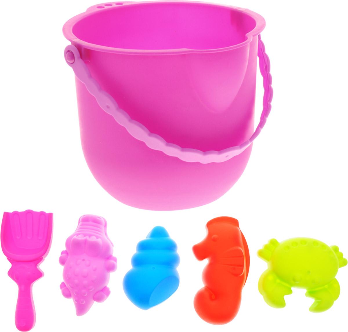 Baby Trend Набор для песочницы 6 предметов цвет ведра розовый