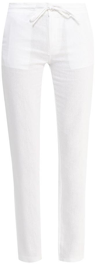 Брюки женские Sela, цвет: белый. P-115/752-7244. Размер 48P-115/752-7244Стильные брюкиSela, изготовленные изо льна с добавлением хлопка, станут отличным дополнением гардероба в летний период. Брюки полуприлегающего кроя и стандартной посадки на талии застегиваются на застежку-молнию и пуговицу. Пояс дополнительно регулируется тесьмой. Модель дополнена двумя втачными карманами спереди и двумя прорезными карманами сзади.
