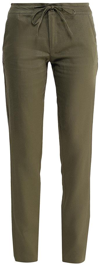 Брюки женские Sela, цвет: оливковый. P-115/752-7244. Размер 46P-115/752-7244Стильные брюкиSela, изготовленные изо льна с добавлением хлопка, станут отличным дополнением гардероба в летний период. Брюки полуприлегающего кроя и стандартной посадки на талии застегиваются на застежку-молнию и пуговицу. Пояс дополнительно регулируется тесьмой. Модель дополнена двумя втачными карманами спереди и двумя прорезными карманами сзади.