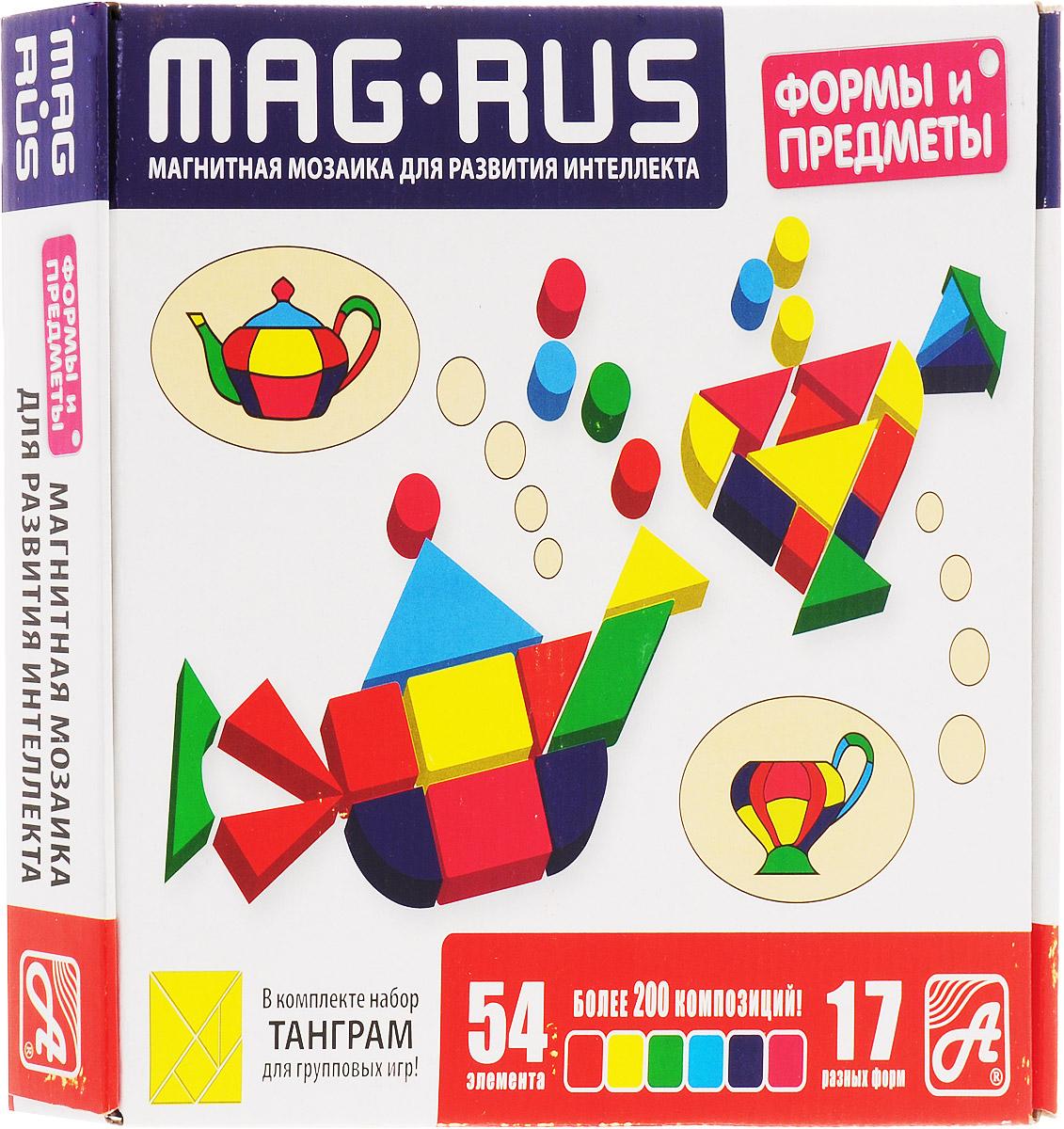 Mag-Rus Мозаика магнитная Формы и предметы поильники pigeon mag mag с трубочкой 8 мес 200 мл