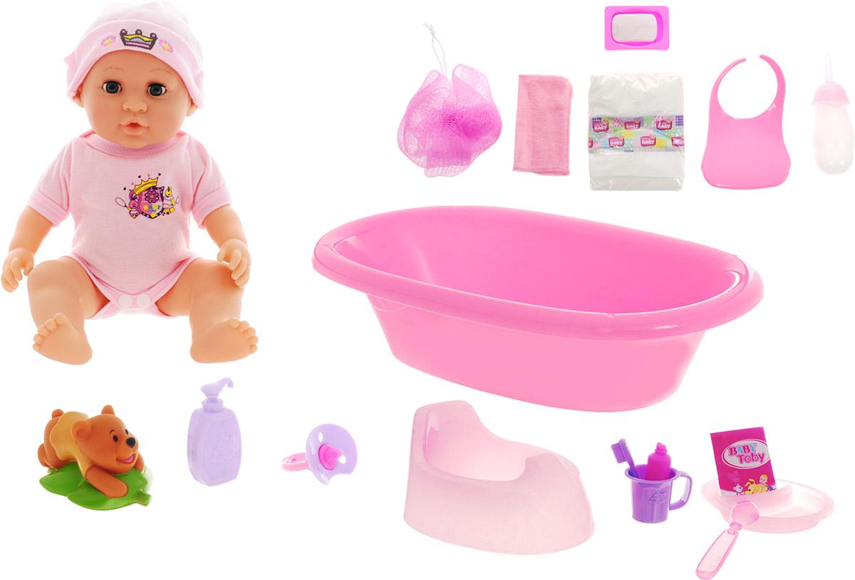 Veld-Co Пупс Baby Toby цвет розовый аксессуары veld co набор переводных татуировок черепа