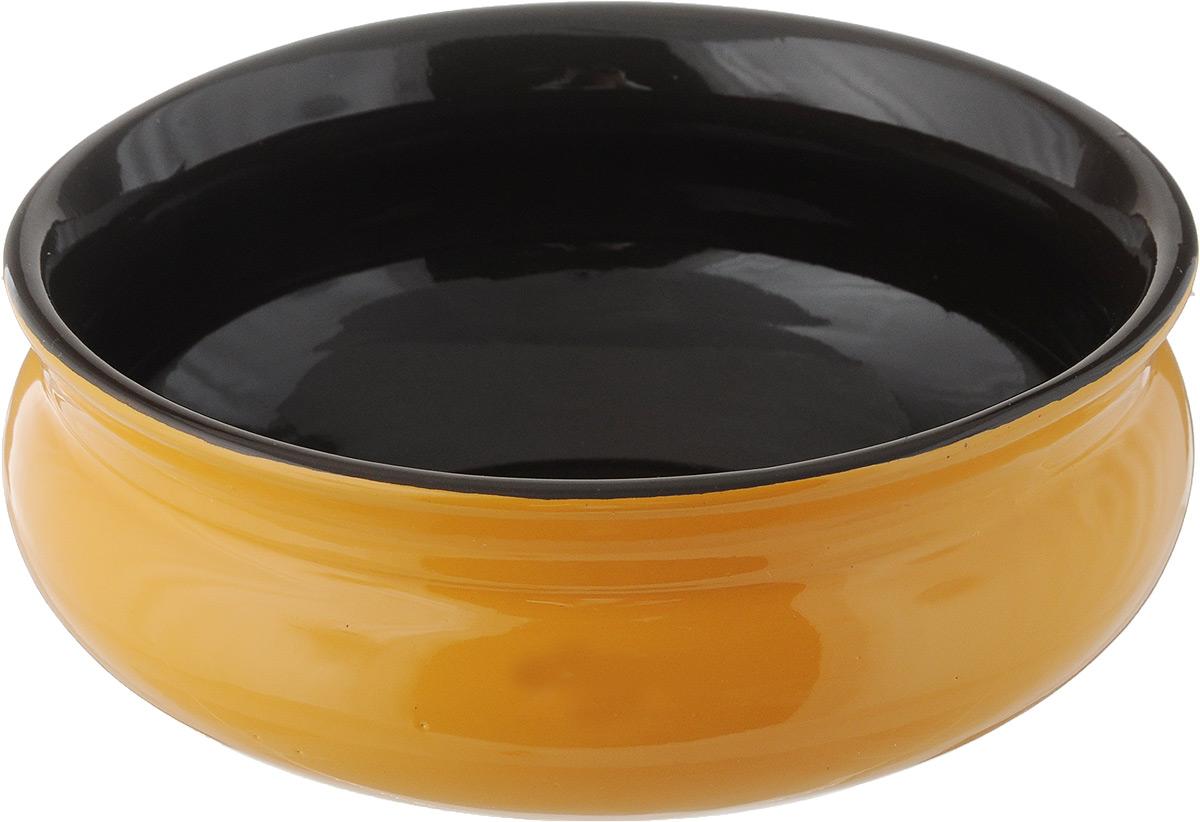 Тарелка глубокая Борисовская керамика Скифская, цвет: желтый, черный, 500 млРАД14458194_желтый, черныйГлубокая тарелка Борисовская керамика Скифская выполнена из керамики. Изделие сочетает в себе изысканный дизайн с максимальной функциональностью. Она прекрасно впишется в интерьер вашей кухни и станет достойным дополнением к кухонному инвентарю. Такая тарелка подчеркнет прекрасный вкус хозяйки и станет отличным подарком. Можно использовать в духовке и микроволновой печи.Диаметр тарелки (по верхнему краю): 14 см.Объем: 500 мл.