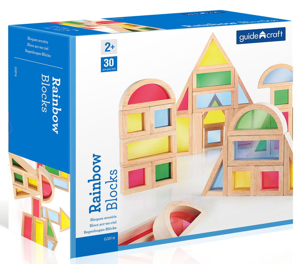 GuideCraft Конструктор деревянный Rainbow Blocks G3016 сортеры guidecraft сортер пирамидка stacking rainbow pyramid радужные блоки