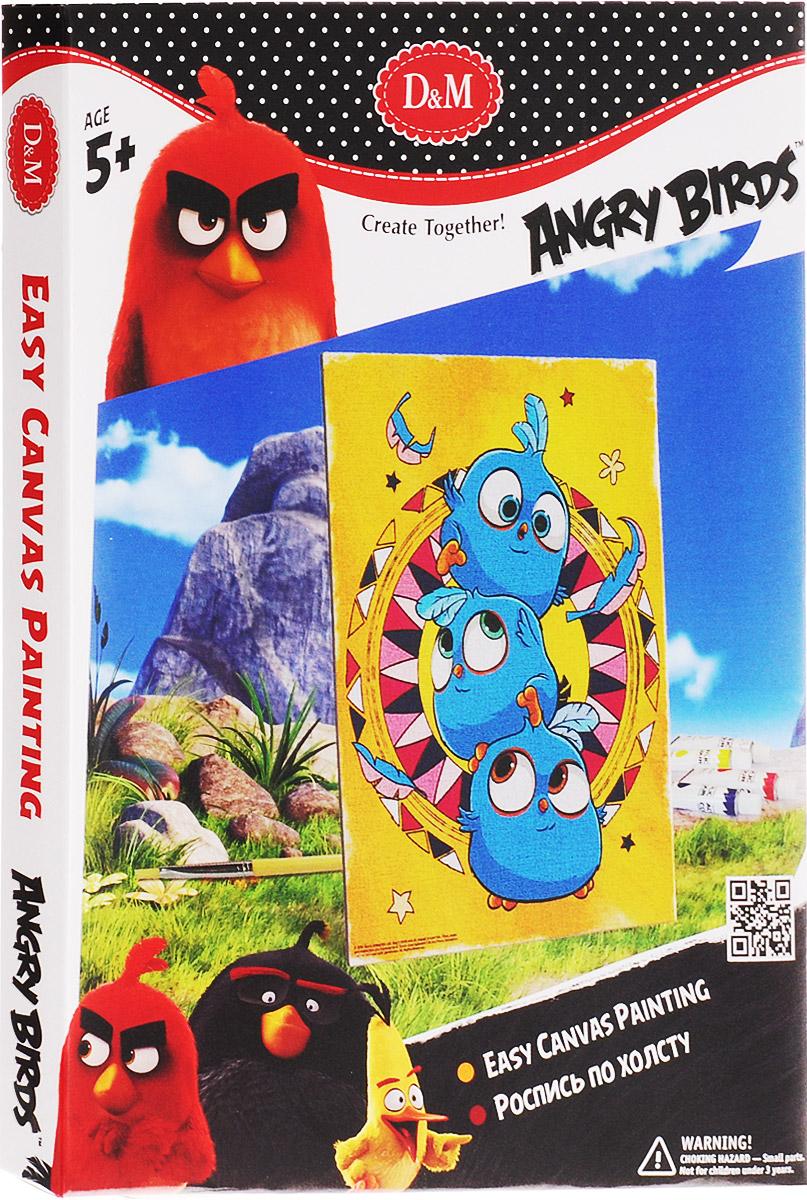 D&M Набор для росписи по холсту Angry Birds Синие птички, Делай с мамой