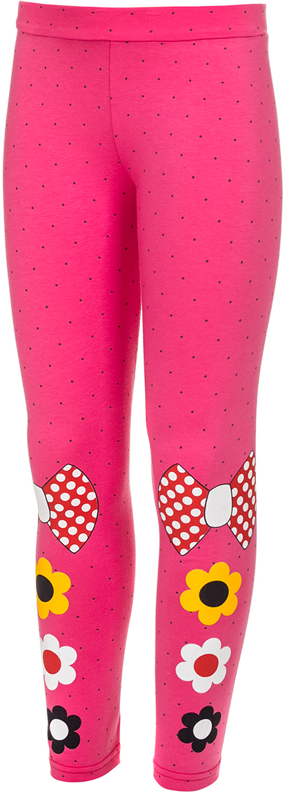 Лосины для девочки M&D, цвет: розовый, мультиколор. М33205. Размер 92 лосины для девочки m&d цвет бирюза мультиколор м33228 размер 116
