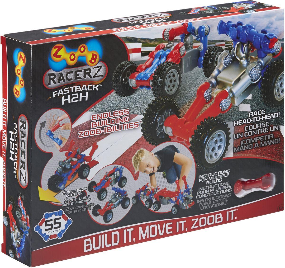 Zoob Racer Z Конструктор Fastback H2H zoob конструктор zoob racer z car designer 76 деталей