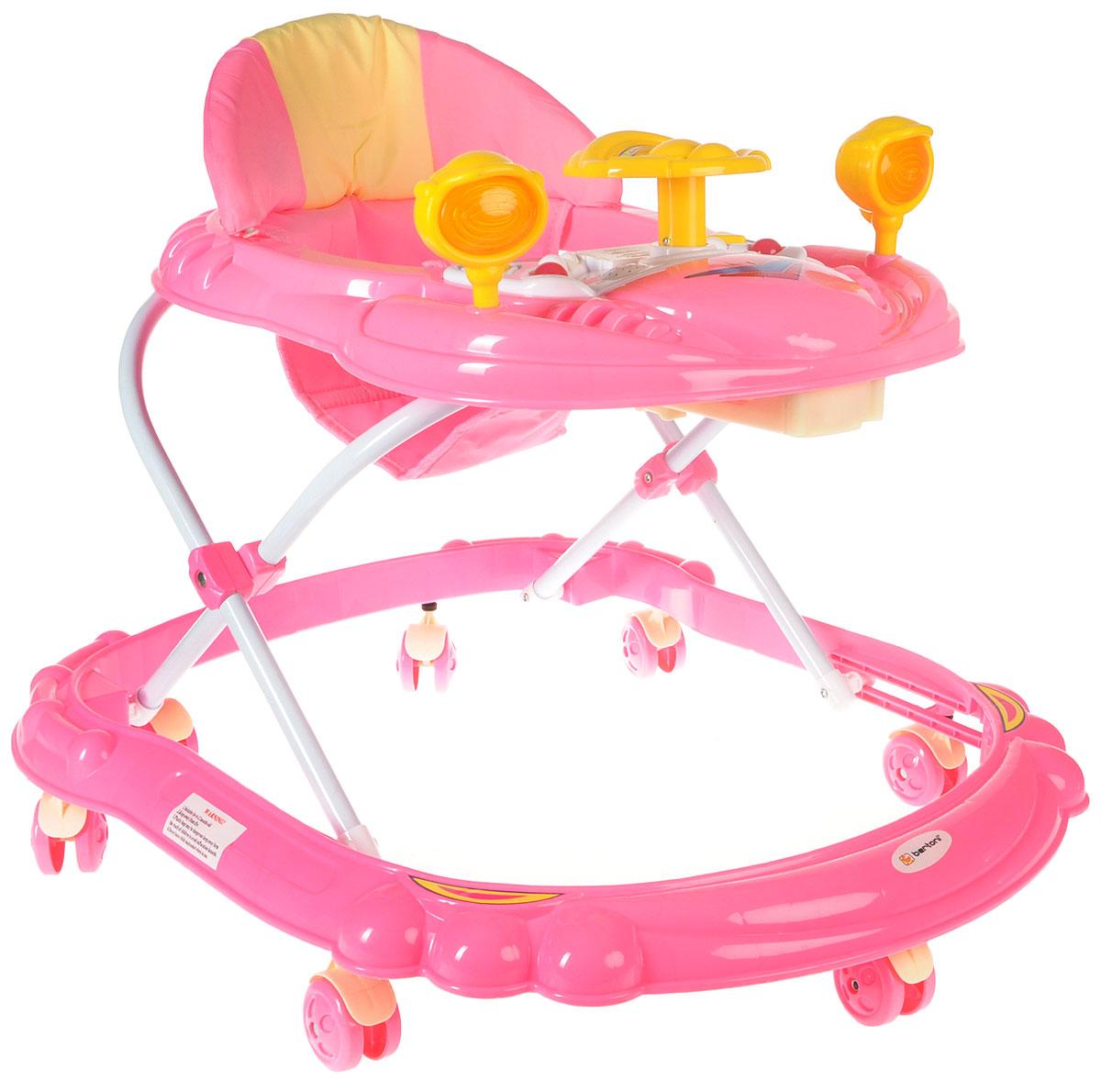 Bertoni Ходунки BW 14 цвет розовый белый -  Ходунки, прыгунки, качалки
