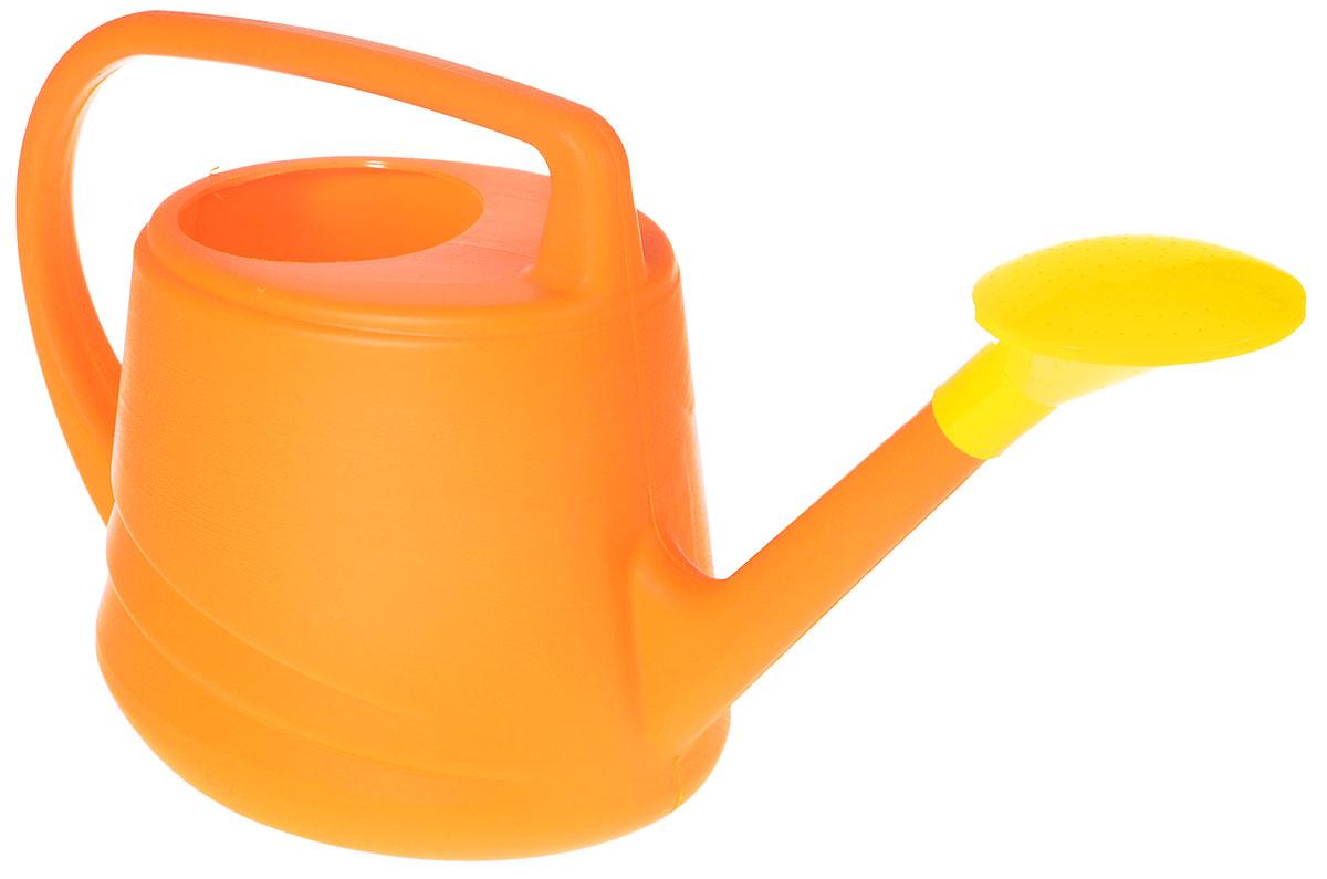 Лейка Альтернатива Евро, цвет: оранжевый, желтый, 10 лM279_оранжевый, желтыйСадовая лейка Альтернатива Евро предназначена для полива насаждений на приусадебном участке. Она выполнена из пластика и имеет небольшую массу, что позволяет экономить силы при поливе. Удобство в использовании также обеспечивается за счет эргономичной ручки лейки. Выпуклая насадка позволяет производить равномерный полив, не прибивая растения. Лейка имеет большое горлышко для наливания воды. Лейка Альтернатива станет незаменимой на вашем огороде или в саду.