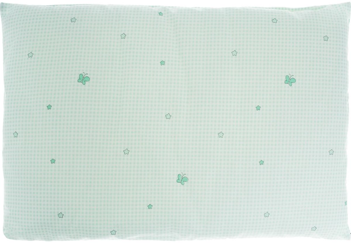 """Детская подушка Сонный гномик """"Бабочки"""" изготовлена из бязи - 100% хлопка и создана для комфортного сна вашего малыша.Гипоаллергенные ткани - это залог спокойствия, здорового сна малыша и его безопасности. Наполнитель (40% бамбук, 60% полиэстер) позволит коже ребенка дышать, создавая естественную вентиляцию. Мягкий и воздушный, он будет правильно поддерживать головку ребенка во время сна. Ткань наволочки - нежная и одновременно износостойкая - прослужит вам долгие годы.Уход: не гладить, только ручная стирка, нельзя отбеливать, нельзя выжимать и сушить в стиральной машине, химчистка запрещена."""