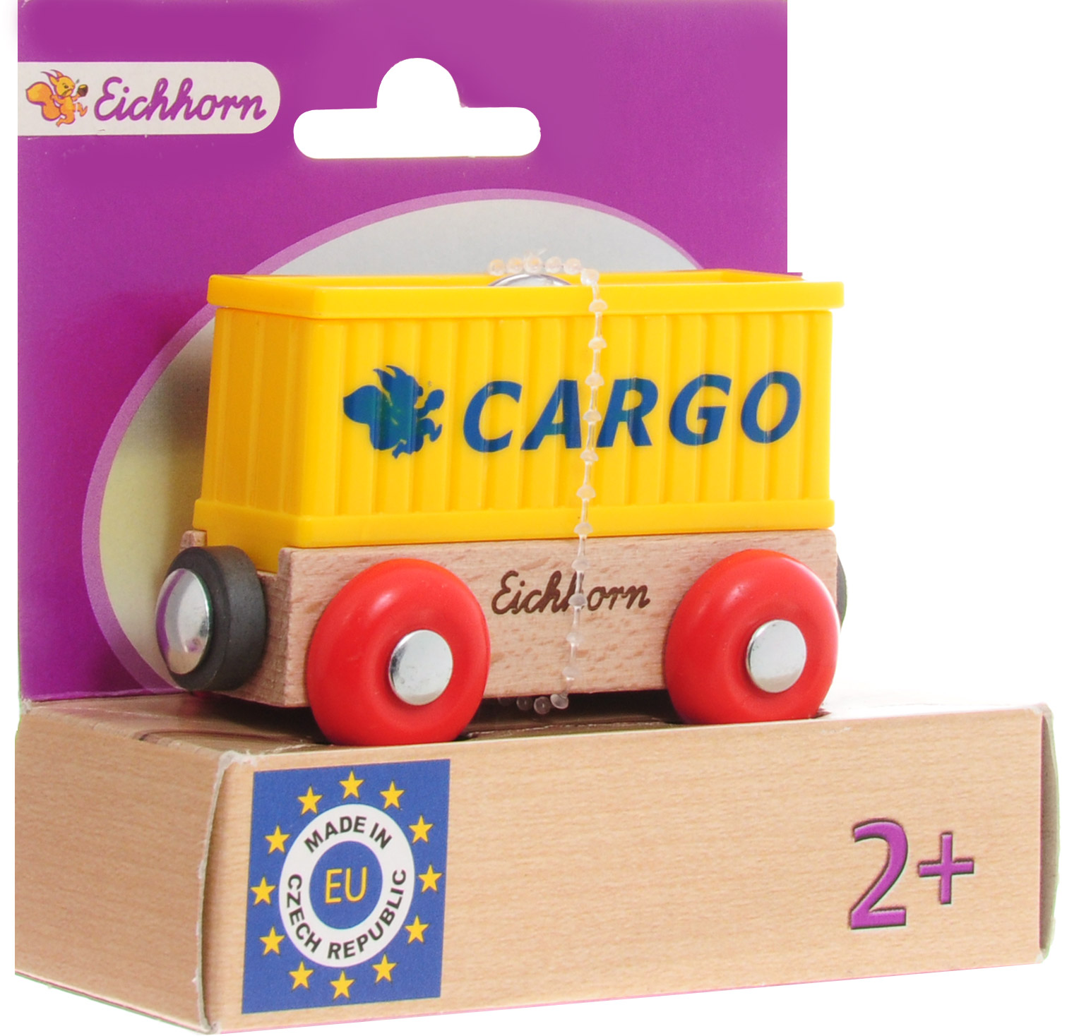 Eichhorn Вагон-контейнер Cargo автотрек dickie simba 3083077 спайдер мэн