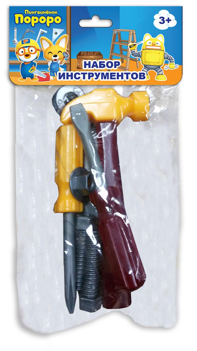 1TOY Игрушечный набор инструментов Пингвиненок Пороро 7 предметов набор инструментов 1toy пингвинёнок пороро 7 пр