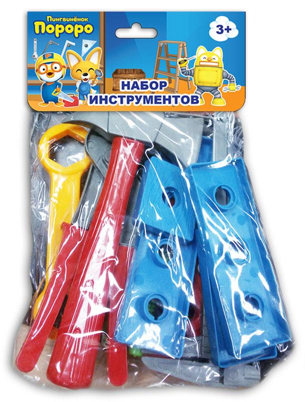 1TOY Игрушечный набор инструментов Пингвиненок Пороро 13 предметов набор инструментов 1toy пингвинёнок пороро 7 пр