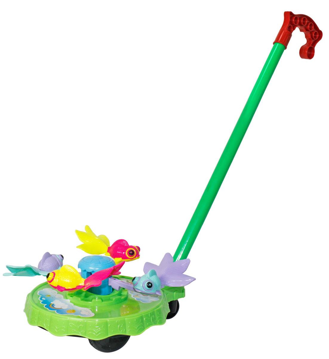 Тилибом Игрушка-каталка Рыбки цвет зеленый детское колесо каталка