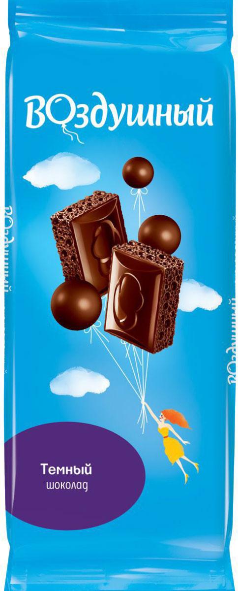 Воздушный шоколад темный пористый, 85 г райская птица молочный шоколад 38% с клубникой 85 г