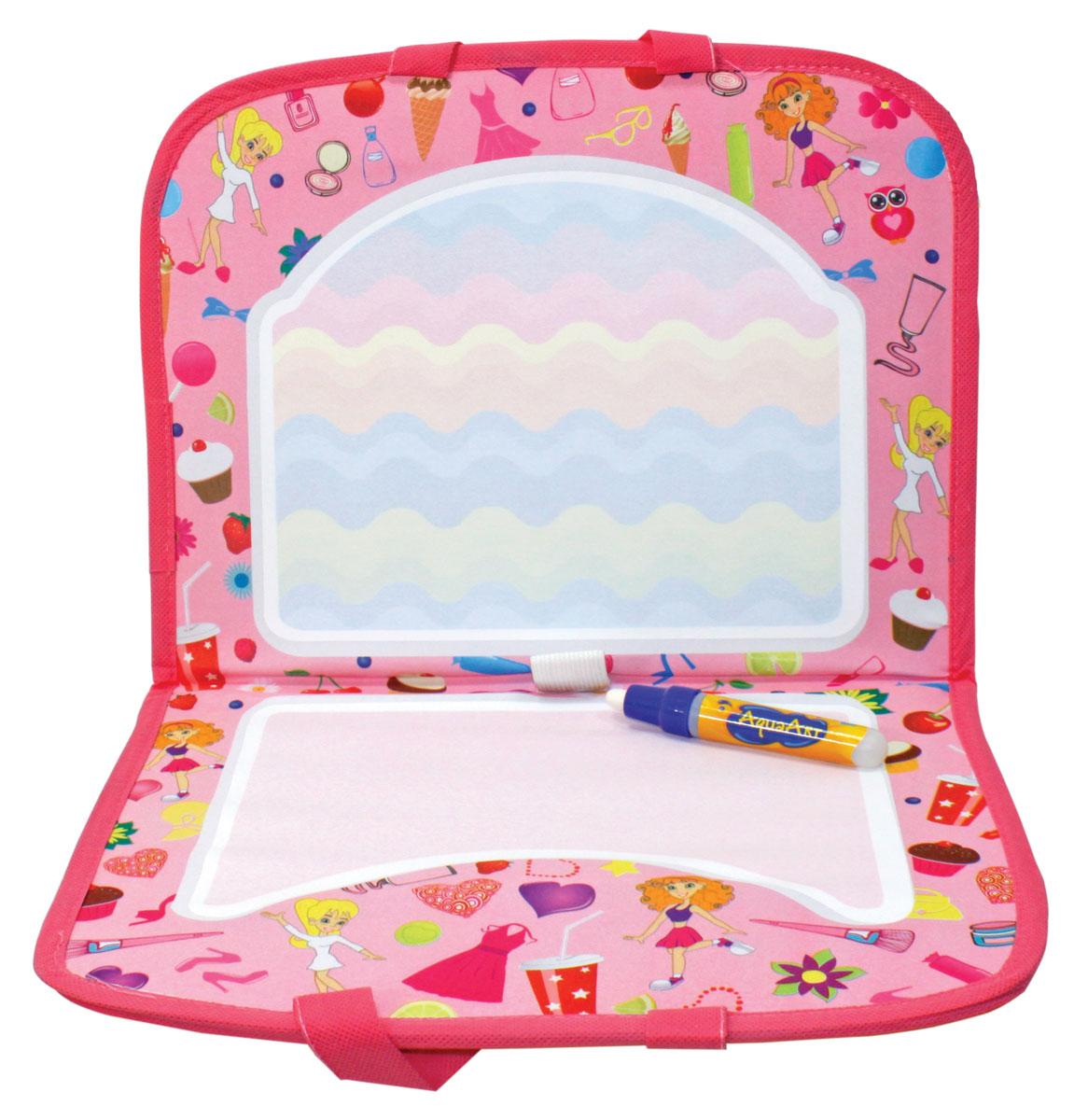 1TOY Коврик для рисования AquaArt с ручками цвет розовый, Solmar Pte Ltd