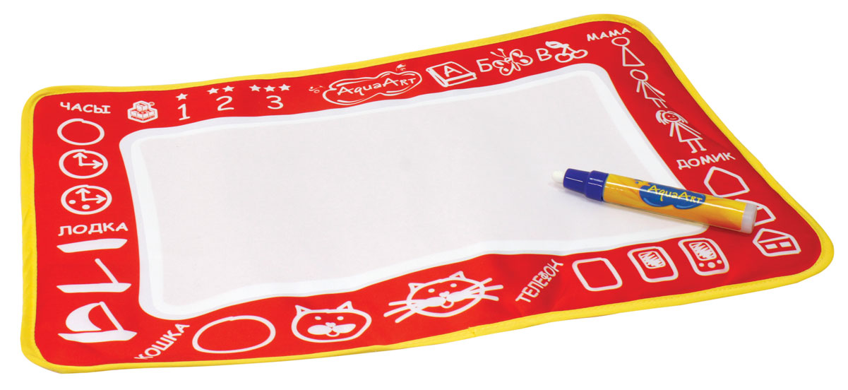 1TOY Коврик для рисования AquaArt цвет красный, Solmar Pte Ltd