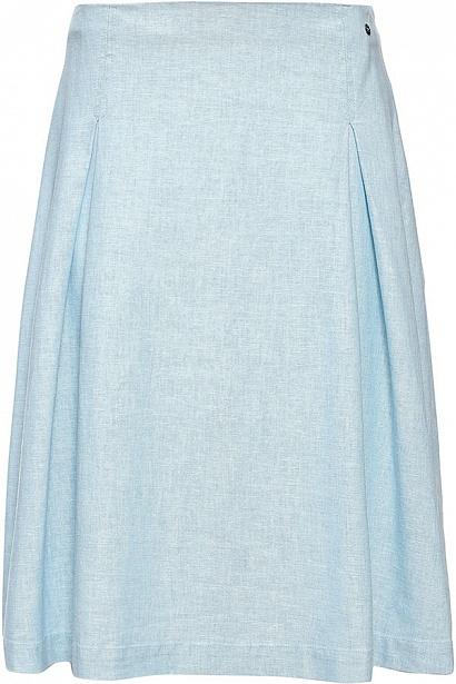 Юбка женская Finn Flare, цвет: светло-голубой. S17-32017_106. Размер XL (50)S17-32017_106Юбка женская Finn Flare выполнена из полиэстера, льна и хлопка. Модель длинной макси.