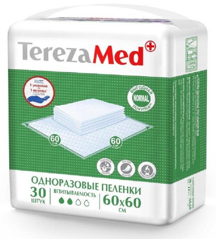 TerezaMed Normal Пеленки одноразовые впитывающие Normal 60 x 60 см 30 шт