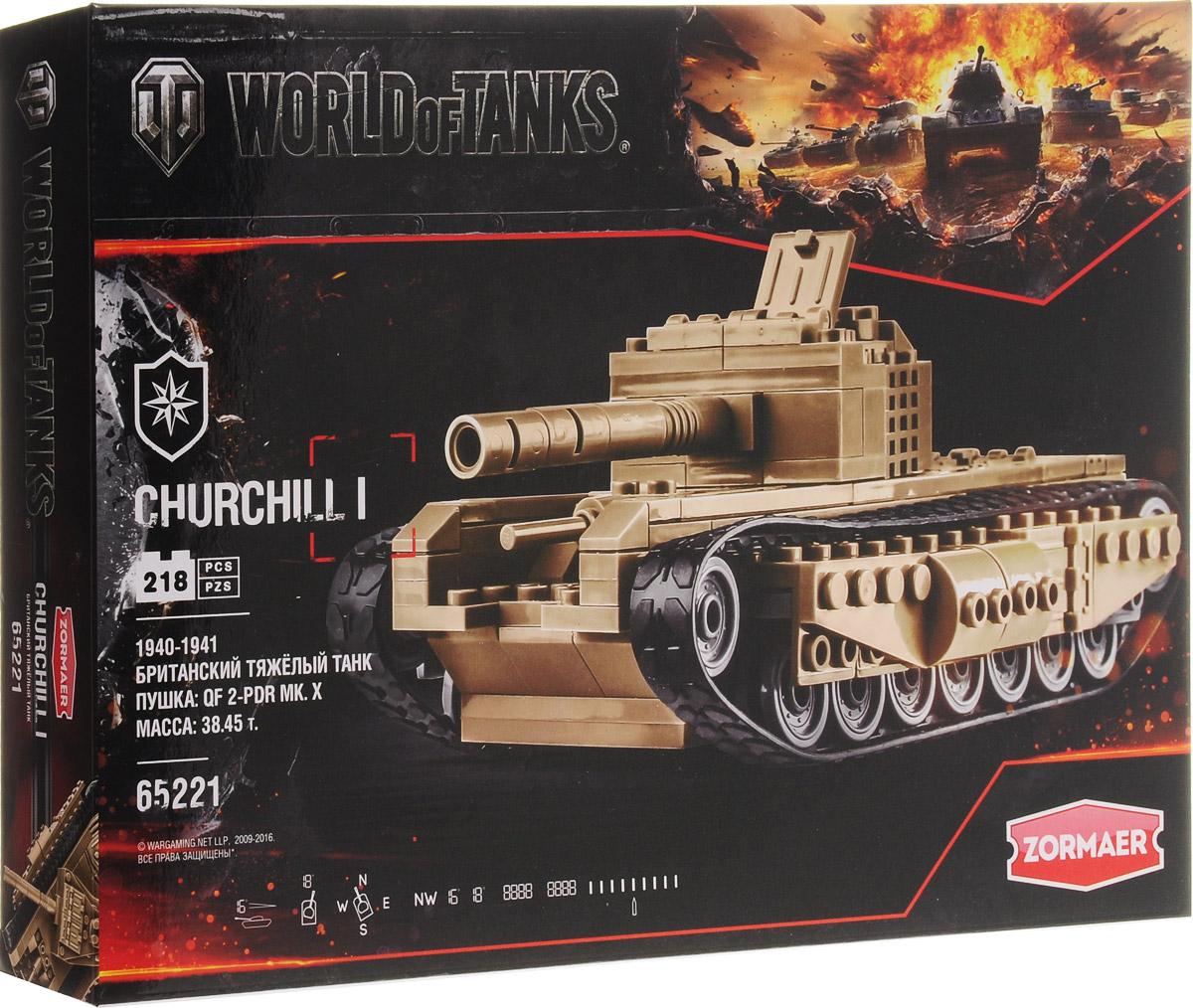 Zormaer Конструктор Танк Churchill I 65302 zormaer конструктор боевой разведчик