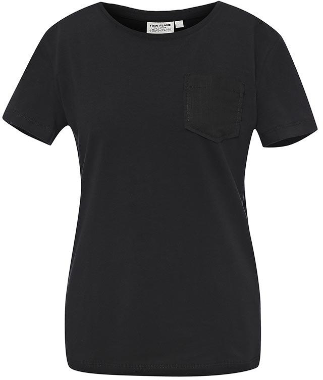 Футболка женская Finn Flare, цвет: черный. S17-11059_200. Размер M (46) finn flare s17 14083