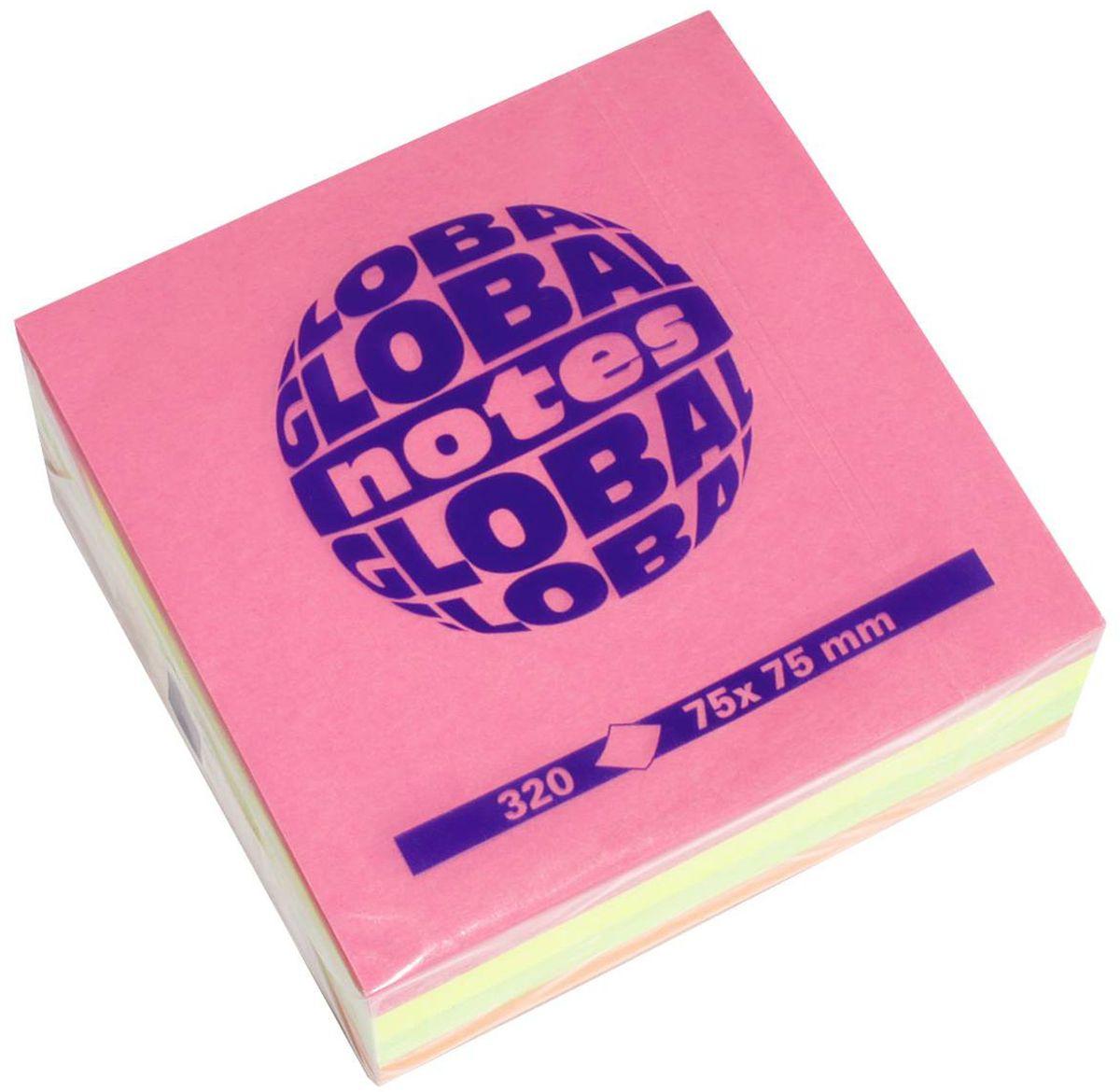 Global Notes Бумага для заметок с липким слоем 7,5 х 7,5 см 320 листов365439Яркая бумага для заметок с липким краем Global Notes - это удобное и практичное решение для быстрой записи информации дома или на работе.Качественная клеевая полоса рассчитана на крепление к любой поверхности, позволяет приклеивать и отклеивать листок неограниченное количество раз, не оставляя следов. Блок состоит из 4 цветов (ярко-розового, желтого, оранжевого и зеленого). Всего в блоке 320 листов (каждого цвета по 50 листов).Размер блока - 75 х 75 мм.Плотность бумаги 70г/м2.