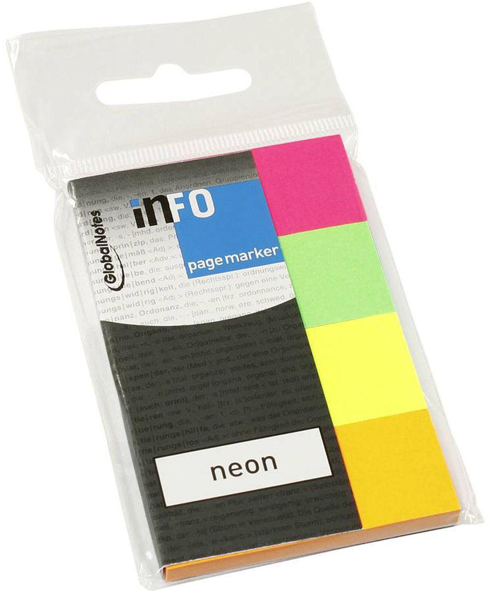 Global Notes Блок-закладка с липким слоем 200 листов567089Бумажные закладки с липким слоем предназначены для наиболее эффективного выделения важной информации без повреждения книги или документа. Идеально подходят для быстрой и эффективной работы - просто выдели и найди. Размер 20х50 мм. 200 листов, 4 цветаТолщина бумаги 50 мкр.