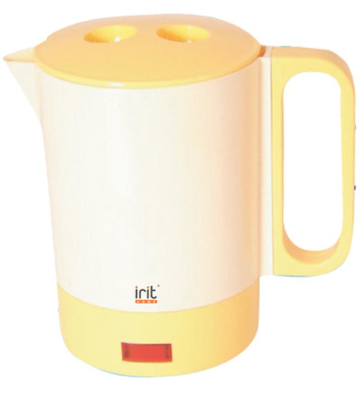 Irit IR-1603 электрический чайник79 02404Удобный и простой в использовании электрический чайник Irit IR-1603 изготовлен из термостойкого пластика. Благодаря мощности в 400 Вт и нагревательному элементу открытого типа, быстро вскипятит воду объемом до 0,5 литра. Данный прибор пользуется неизменной популярностью благодаря высокому качеству, безопасности и удобству в использовании. Модель оснащена индикатором включения/выключения и съемной ручкой. Крышка полностью снимается, поэтому наполнение чайника водой или мытье не составит трудностей.