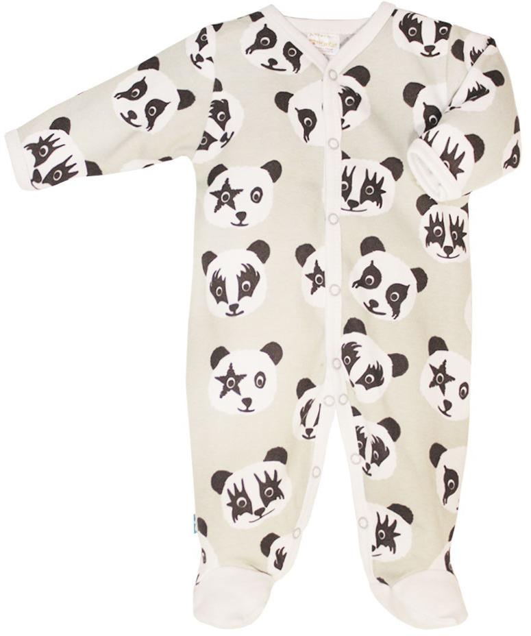 Комбинезон домашний для мальчика КотМарКот, цвет: серый, белый, черный. 6221. Размер 56 кофта для мальчика котмаркот цвет бирюзовый черный серый 7120 размер 80