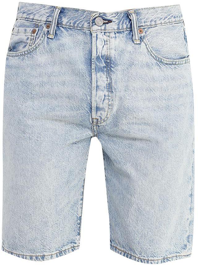 Шорты мужские Levis®, цвет: голубой. 3651200440. Размер 31 (48)3651200440Джинсовые шорты Levis® изготовлены из натурального хлопка. Шорты застегиваются на пуговицы. Модель со стандартным кроем в бедрах имеет прямые штанины. Спереди расположены два втачных кармана и один маленький накладной, а сзади - два накладных кармана. Изделие оформлено красивой контрастной прострочкой.