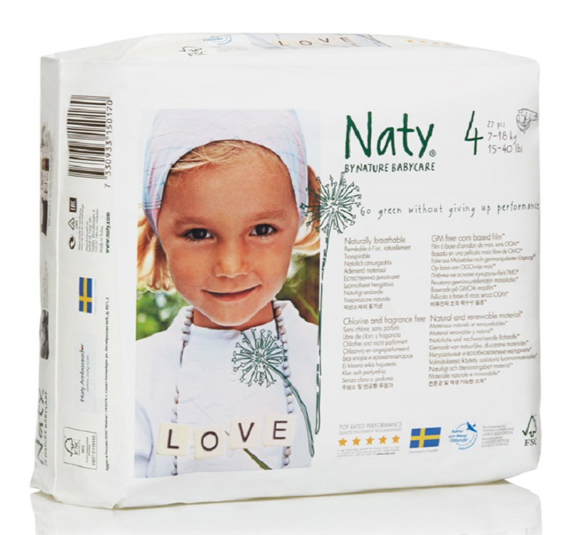 Naty Фито-подгузники 4 (7-18 кг) 27 шт