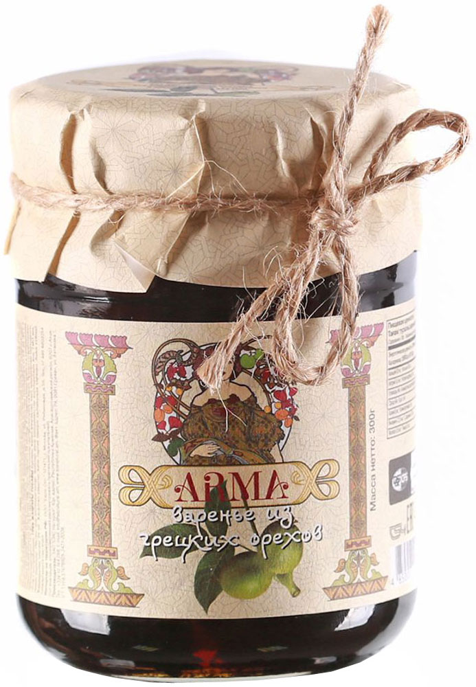 ARMA Варенье из грецких орехов, 300 г arma варенье из белой черешни 300 г