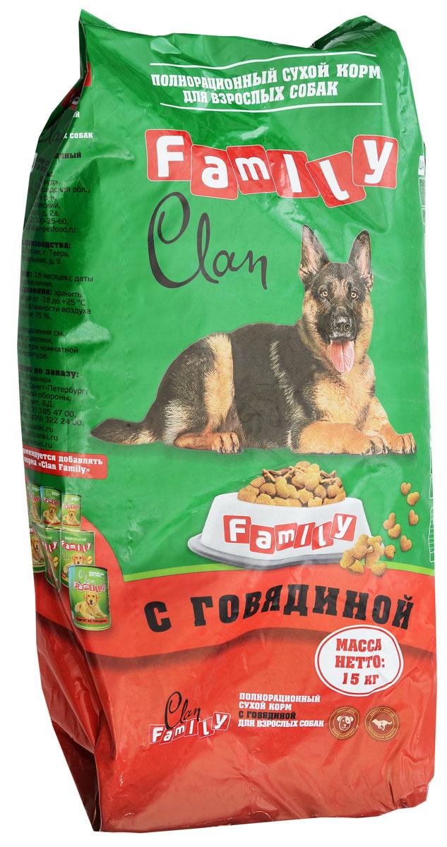 Корм сухой для собак Clan Family, говядина, 15 кг,130.2.010Злаки и продукты растительного происхождения, мясные субпродукты, животные жиры и растительные масла, кормовые добавки, минеральные вещества и витамины, антиоксиданты (Е320, Е321), консервант.
