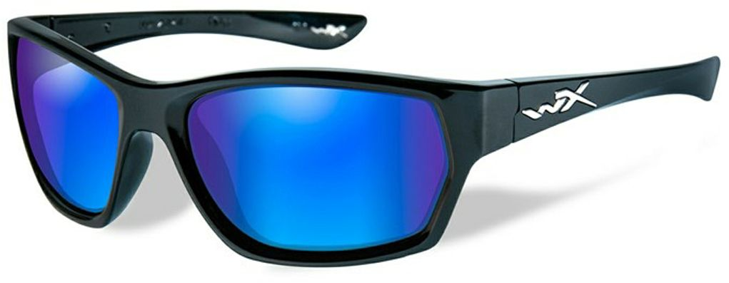 Очки солнцезащитные WileyX Moxy Polarized, для охоты, рыбалки и активного отдыха, цвет: Blue Mirror, GreenSSMOX09Стильные и жесткие очки WileyX Moxy Polarized - это великолепно выглядящая комбинация глянцевой черной оправы и поляризованных зеркальных линз, которая имеет довольно классический и одновременно ультрасовременный внешний вид. Установленные линзы поглощают отражения и снижают блики. Данная модель очков отлично подходит для активного отдыха в условиях интенсивной освещенности. Линзы изготовлены из поликарбонада особенно устойчивого к царапинам и обеспечивающего 100% УФ защиту. Поляризационный фильтр 8ТМ - запатентованная WileyX технология поляризации линз обеспечивает 100% поляризацию и 100% защиту от ультрафиолетовых лучей для непревзойденной четкости и контрастности изображения.Защита от ударов на высокой скорости - оправа и линзы должны выдерживать удар тяжелого снаряда весом 500 г, падающего с высоты 127 см.Прочное покрытие - устойчивое к царапинам покрытие защищает линзы от механических повреждений и продлевает срок их службы.Антибликовое покрытие - антибликовое покрытие устраняет нежелательные отражения с поверхностей линз. Водоотталкивающее покрытие - водоотталкивающее покрытие обеспечивает скатывание воды с поверхности линз. Используется только на поляризационных линзах.