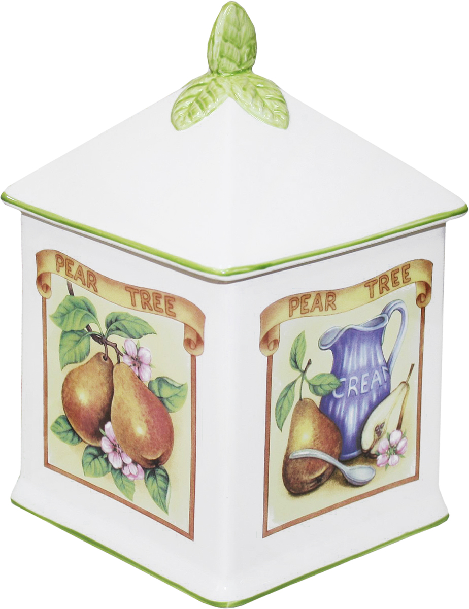 """Банка для сыпучих продуктов  Azulejo Espanol Ceramica """"Сиеста"""" изготовлена из керамики, покрытой слоем сверкающей гладкой глазури. Изделие оформлено красочным изображением.  Банка прекрасно подойдет для хранения различных сыпучих продуктов: чая, кофе, сахара, круп и многого другого. Крышка герметично закрывается, что позволяет дольше сохранять продукты свежими.  Изящная емкость не только поможет хранить разнообразные сыпучие продукты, но и стильно дополнит интерьер кухни."""
