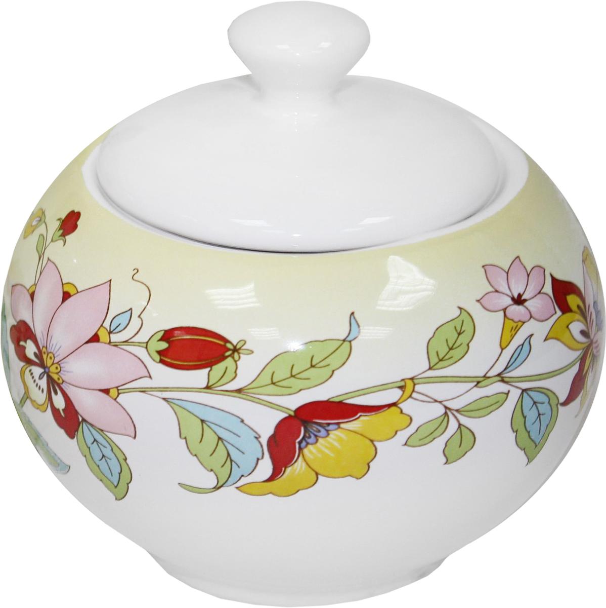 Сахарница Azulejo Espanol Ceramica Sunny Flowers, 300 мл216846СахарницаAzulejo Espanol Ceramica Sunny Flowers сочетает в себе кухонную практичность и декоративную утонченность.Сахарница оформлена художественной печатью и станет отличным украшением вашего интерьера.