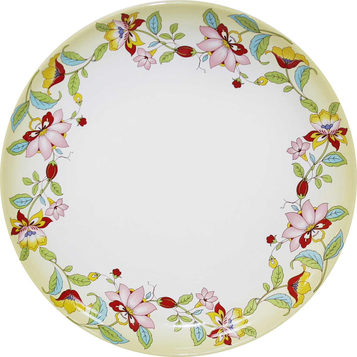 Блюдо Azulejo Espanol Ceramica Sunny Flowers, диаметр 26,5 см three hands