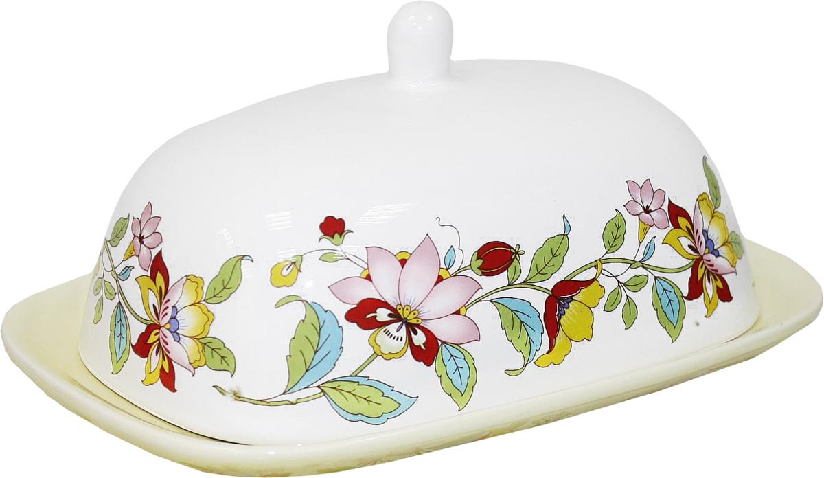 Масленка Azulejo Espanol Ceramica Sunny Flowers216852Масленка Azulejo Espanol Ceramica Sunny Flowers сочетает в себе кухонную практичность и декоративную утонченность.Масленка оформлена художественной печатью и станет отличным украшением вашего интерьера.