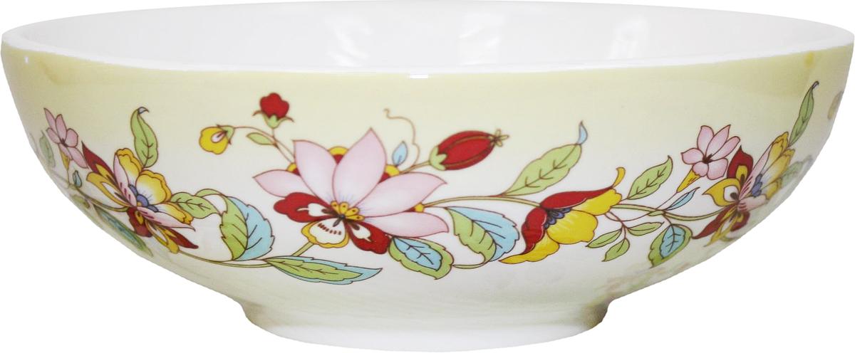 Салатник Azulejo Espanol Ceramica Sunny Flowers, 400 мл216853Салатник Azulejo Espanol Ceramica Sunny Flowers сочетает в себе кухонную практичность и декоративную утонченность.Он оформлен художественной печатью и станет отличным украшением вашего интерьера.