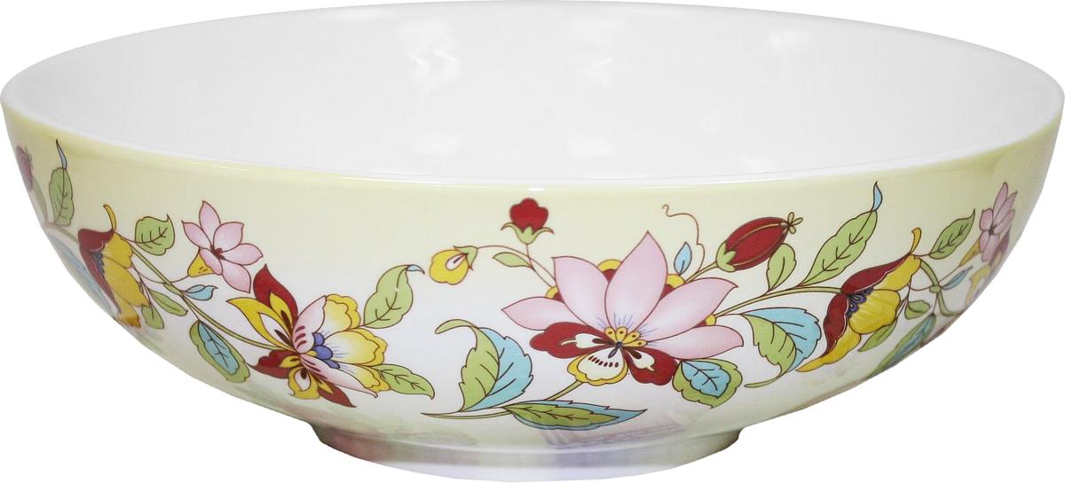 Салатник Azulejo Espanol Ceramica Sunny Flowers, 1 л216854Салатник Azulejo Espanol Ceramica Sunny Flowers сочетает в себе кухонную практичность и декоративную утонченность.Он оформлен художественной печатью и станет отличным украшением вашего интерьера.