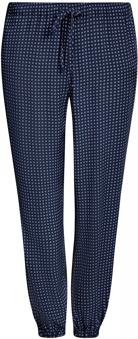 Брюки женские oodji Ultra, цвет: темно-синий. 11711013/26346/7910G. Размер 34-170 (40-170)