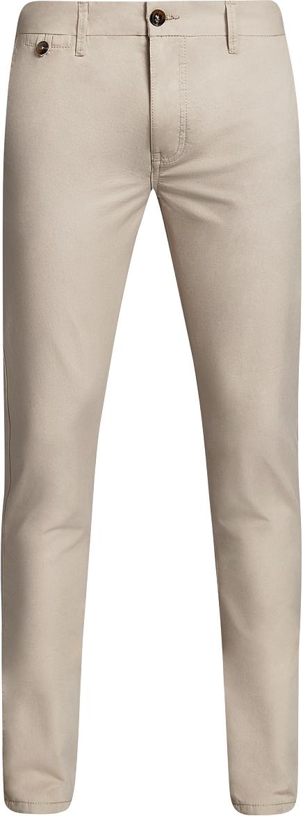 Брюки мужские oodji Basic, цвет: бежевый. 2B150023M/44264N/3300N. Размер 36 (44-182)