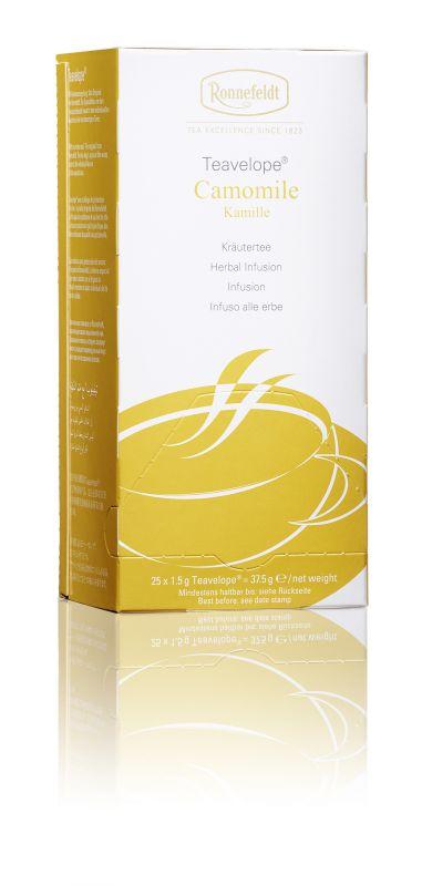 Ronnefeldt Ромашка аптечная травяной чай в пакетиках, 25 шт15020Ronnefeldt Ромашка аптечная - успокаивающий травяной чай с характерным вкусом и ароматом ромашки. Чай из линии Teavelope произведен традиционным способом. Качество трав, фруктов и других ингредиентов отвечает самым высоким требованиям. А особая защитная упаковка сохраняет чай таким, каким его создала природа: ароматным, свежим и неповторимым.Уважаемые клиенты! Обращаем ваше внимание на то, что упаковка может иметь несколько видов дизайна. Поставка осуществляется в зависимости от наличия на складе.